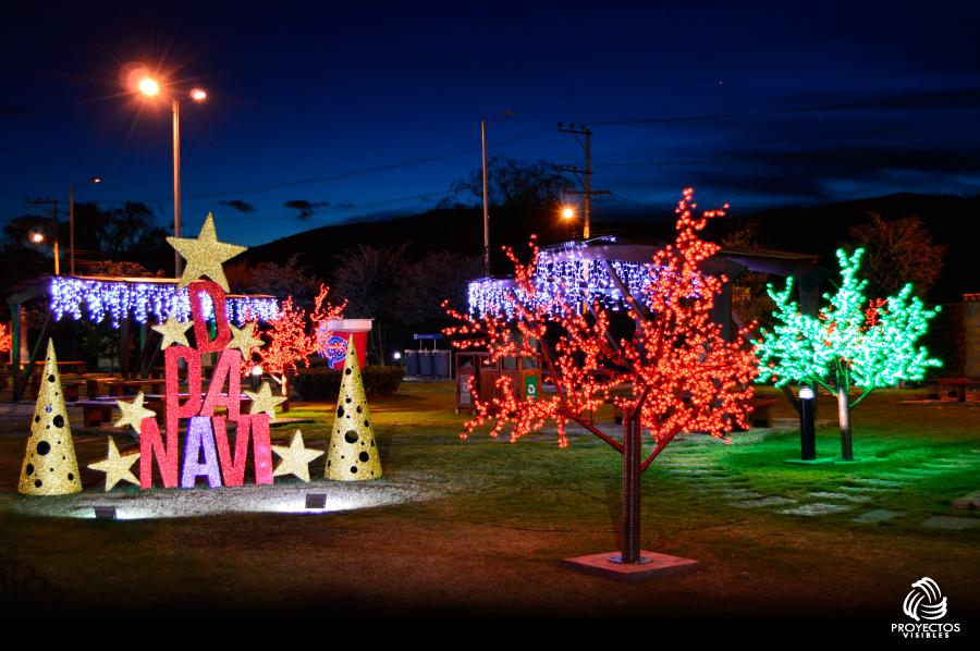 Cabaña alpina navidad 2015   proyectos de iluminación y decoración ...